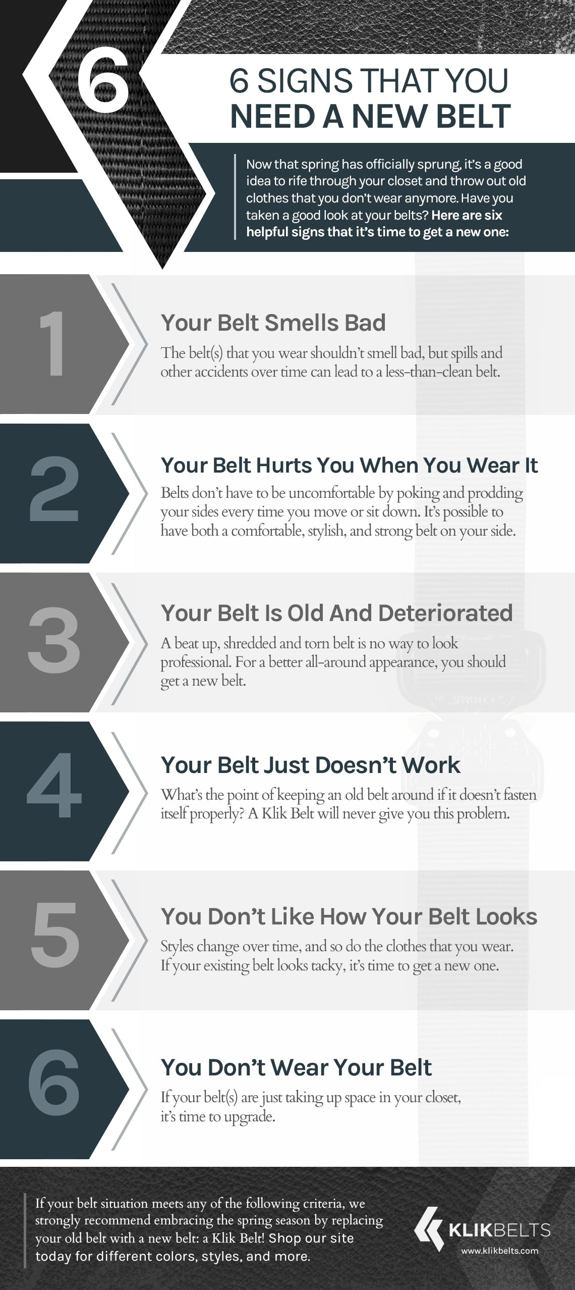 6 Signs That You Need A New Belt
