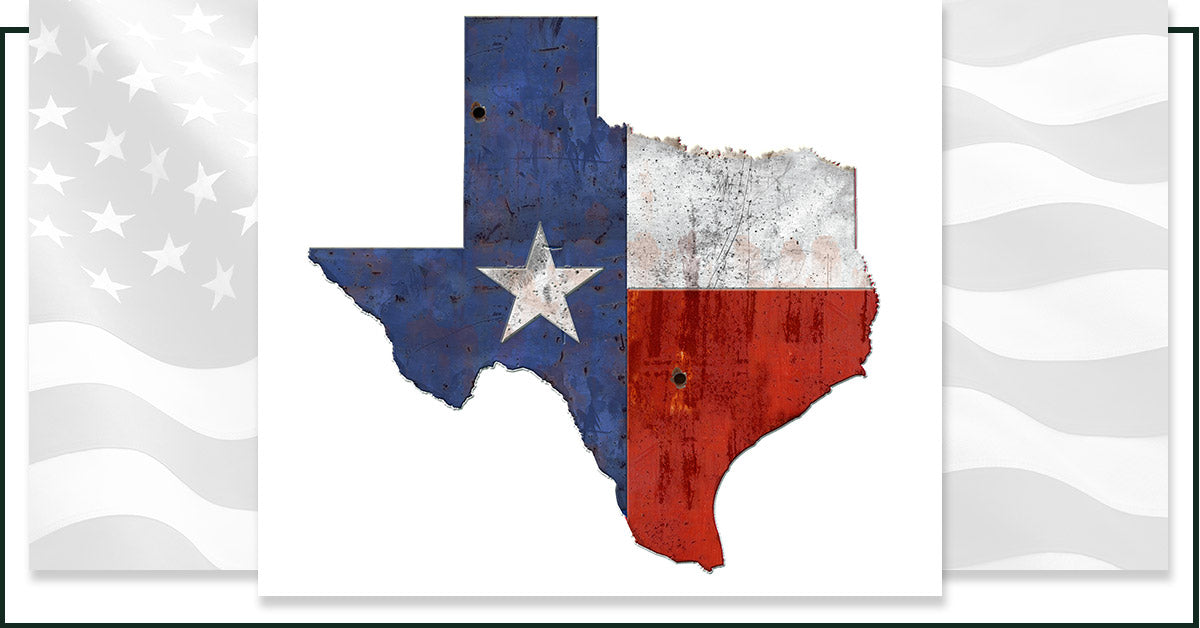 Image of the state of Texas where Klik Belts are made.