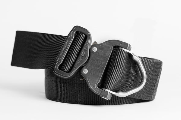 "1.75"" Wide Duty Belt D-Ring Matte Black"