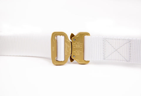 men's white belt by Klik Belts