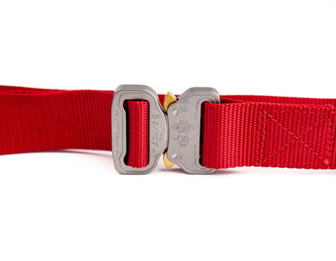 women's red belt by Klik Belts