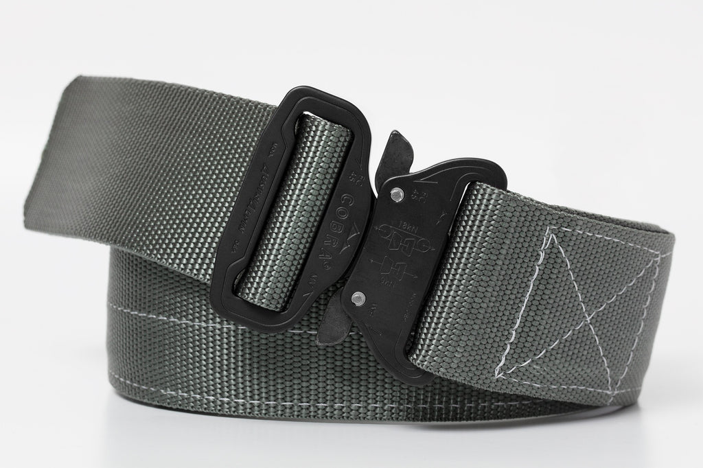 marine gray colored wide duty Klik Belt with COBRA® buckle