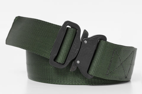 "1.75"" wide OD green colored belt for holsters"