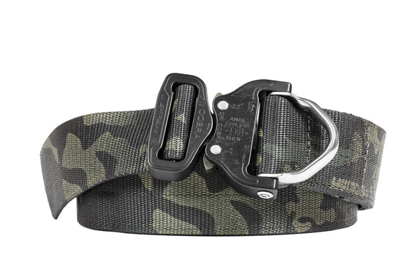 "1.75"" Wide Duty Belt D-Ring Matte Black Multicam®"