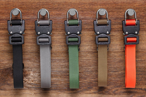 variety of Klik Collars for on duty dogs in different colors