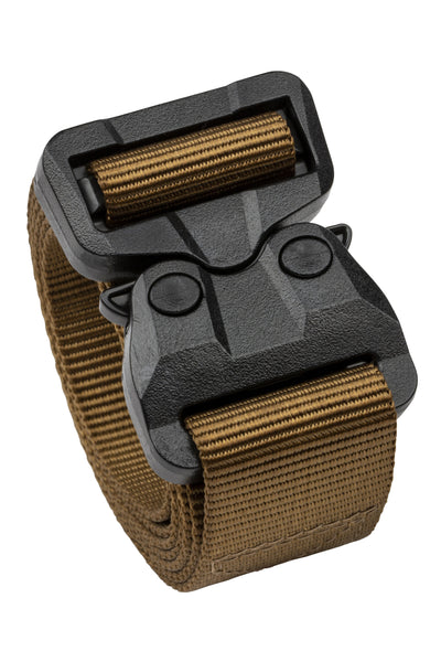 "1.5"" Black Poly COBRA® Buckle/Brown Nylon 1-Ply TSA-Approved Belt"
