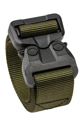 TSA approved belt with polymer COBRA® buckle in OD green