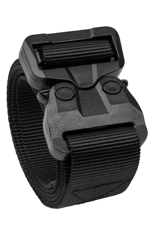 matte black 1-ply polymer buckle TSA approved belt