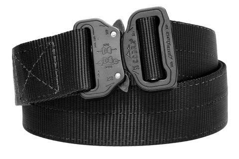 "1.5"" inch wide matte black Klik Belt in 2-ply strength"