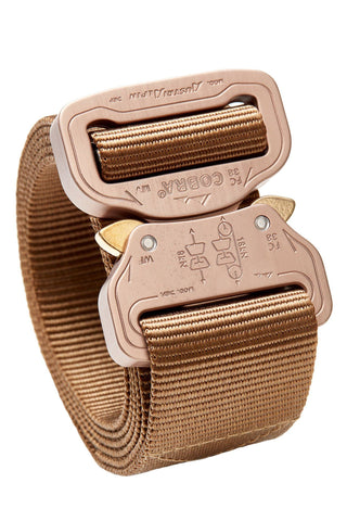 1-ply coyote brown colored clickable belt