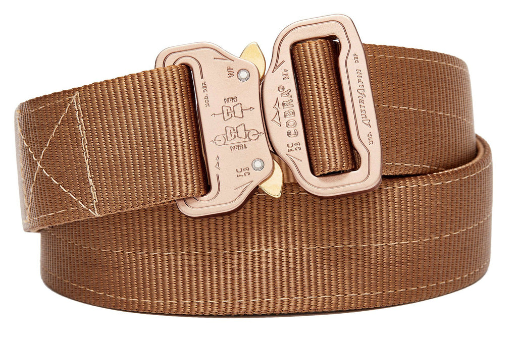 "2-ply 1.5"" wide coyote brown colored belt"