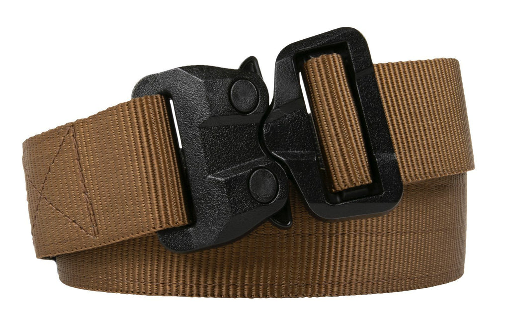 2-ply coyote brown polymer buckle TSA approved belt