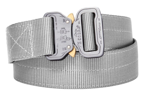 extra strong 2-ply Klik Belt in gunmetal color with gray COBRA® buckle