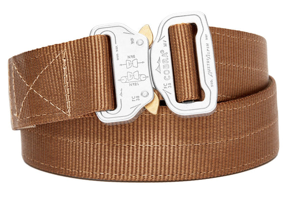 strong 2-ply belt for gun holsters in coyote color from Klik Belts