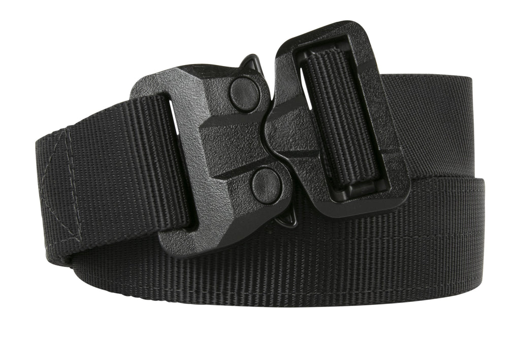 Matte black on black colored TSA Approved Klik Belt