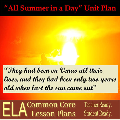 """All Summer in a Day"" by Ray Bradbury Unit Plan"