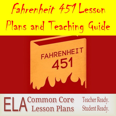 Fahrenheit 451 Teaching Unit and Lesson Plans