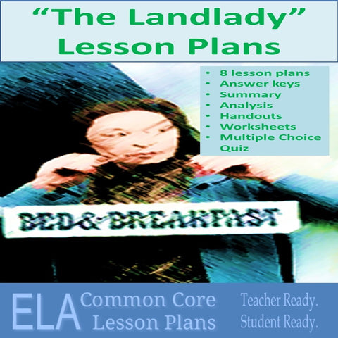 """The Landlady"" by Roald Dahl Lesson Plans"
