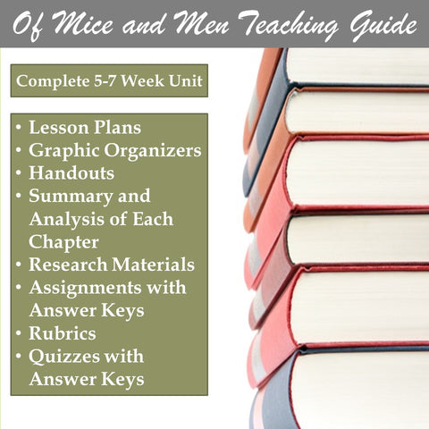 Of Mice And Men Teaching Guide And Lesson Plans