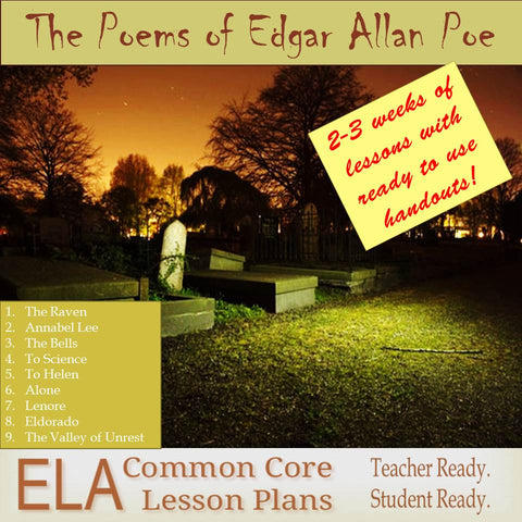 Teaching Guide for the Poems of Edgar Allan Poe