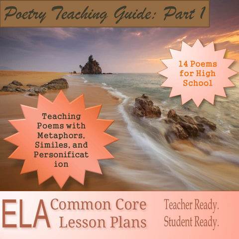 Poetry Lesson Plans: Teaching Metaphors, Similes, and Personification in Poetry