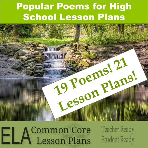 Popular Poems for High School (and Middle School) Lesson Plans
