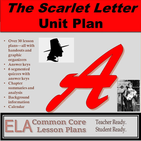 The Scarlet Letter Unit Plan and Teaching Guide