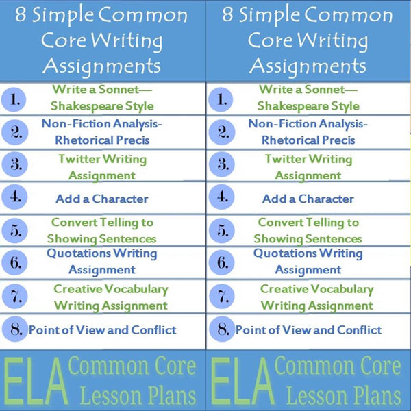 8 simple common core writing assignments trent media