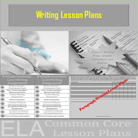 Writing Lesson Plans