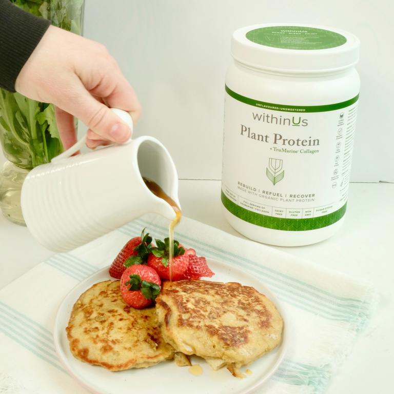 COLLAGEN POWERED PROTEIN BANANA PANCAKE RECIPE (FLOURLESS)