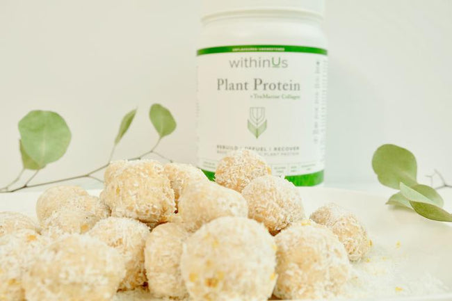 COLLAGEN-POWERED PROTEIN LEMON CAKE BALL RECIPE