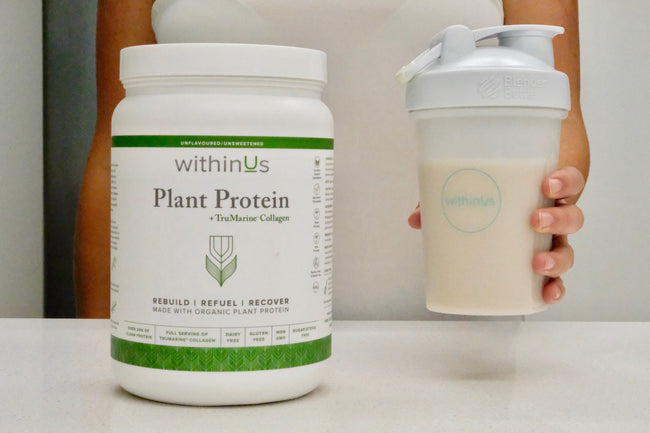 VANILLA & CHOCOLATE COLLAGEN-POWERED PROTEIN SHAKE ~ WITHINUS TEAM