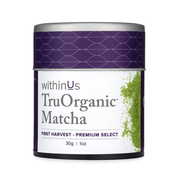 withinUs TruOrganic Matcha. Approximately 30 servings.