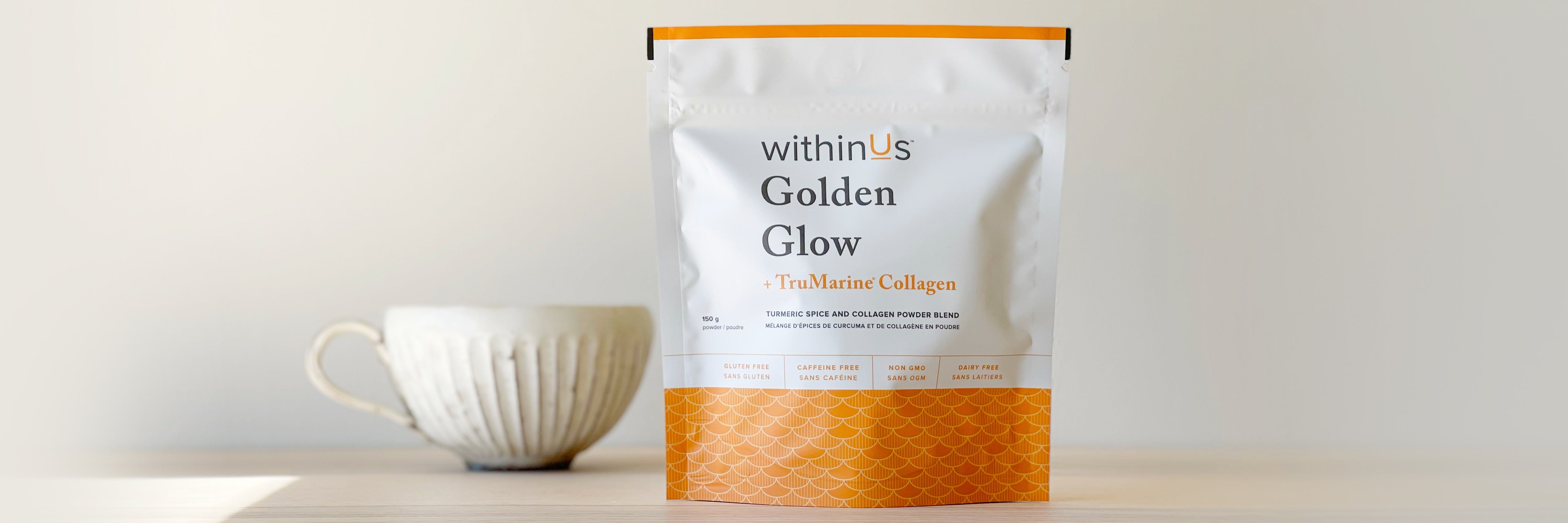 withinUs™ Golden Glow™ + TruMarine® Collagen is the perfect blend of traditional and modern.