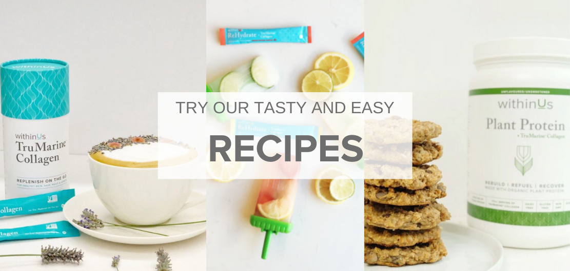 Collage of recipes from withinUs