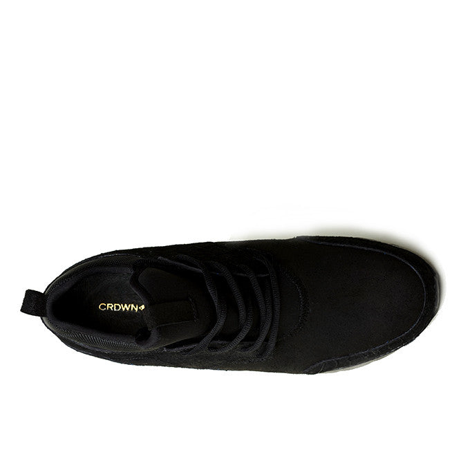 CRDWN footwear - wasson black snake shoe