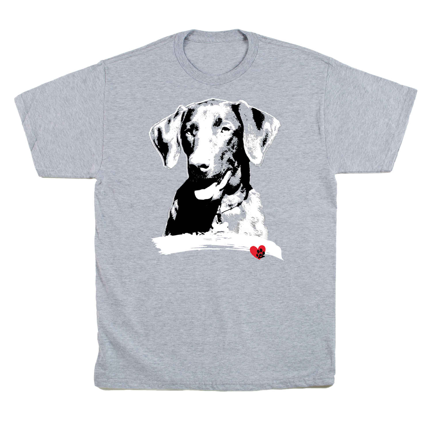 Labrador Grey V-Neck T-Shirt