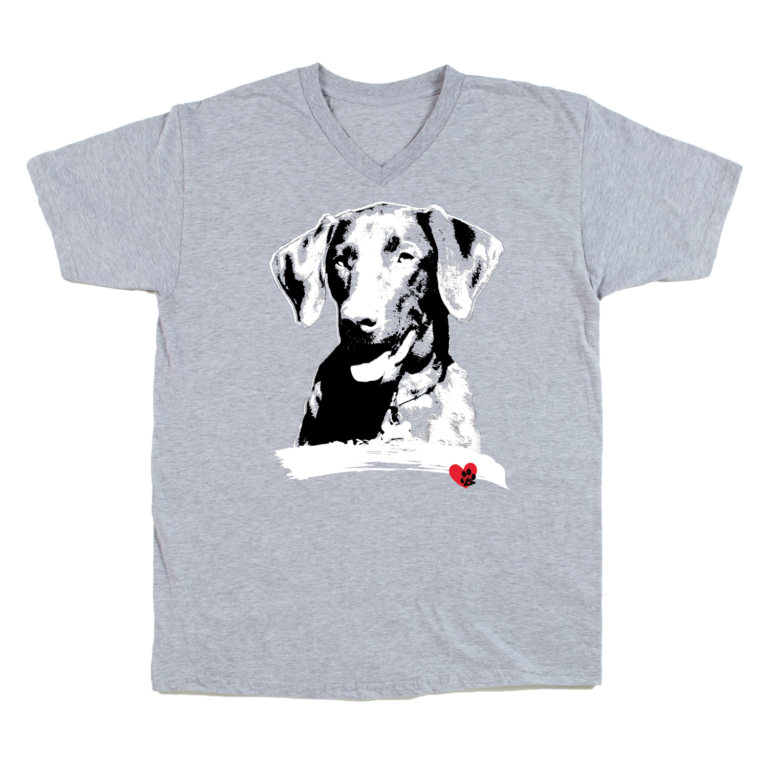 Labrador Grey Crew Neck T-Shirt