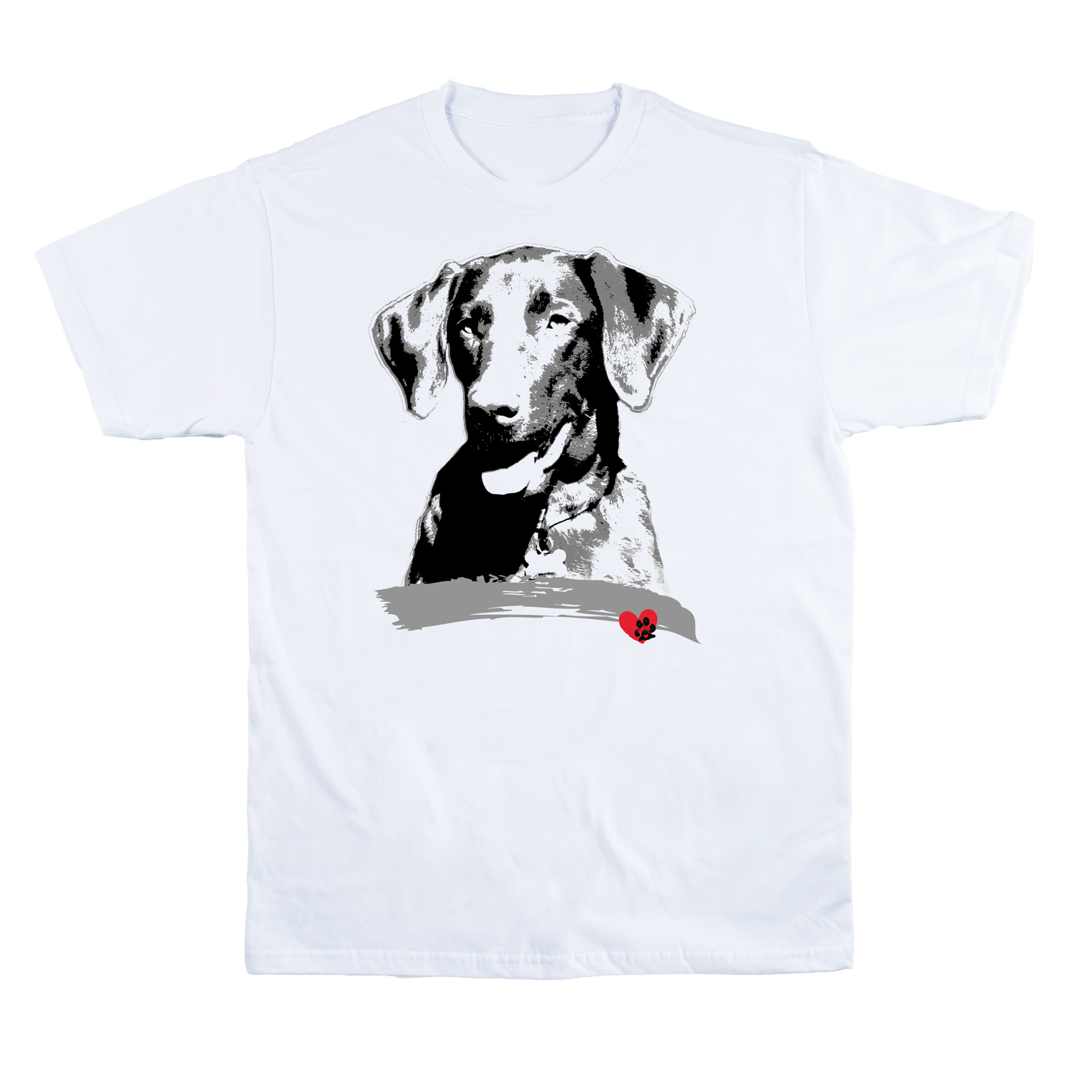 Labrador White V-Neck T-Shirt