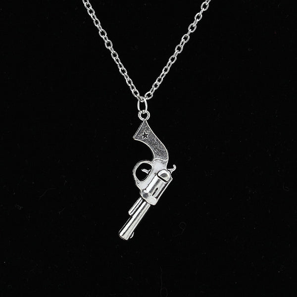 Vintage Silver Gun Necklace + Pendant, Buy 1, Get 2 MORE FREE !