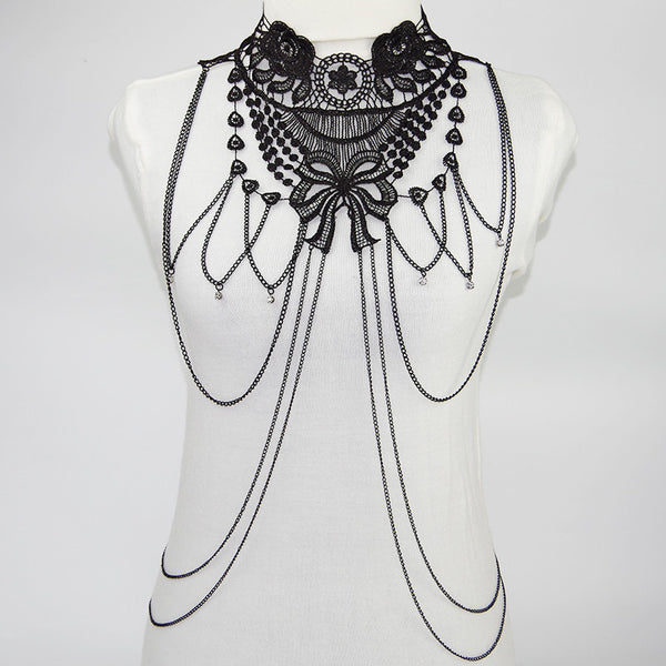 Body Jewelry  Lace Collar Gothic Necklace Choker