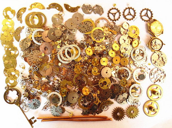 Gears Craft 20g or 40g/Lot Old Steampunk Watch Parts Pieces Cogs Wheels