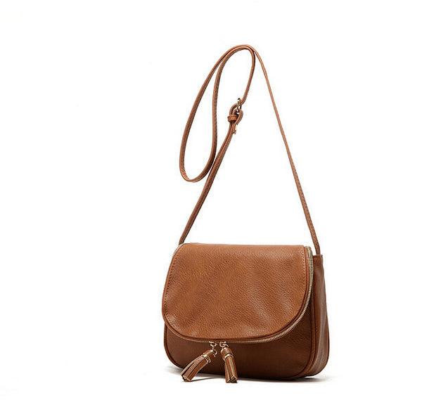 Shoulder Bag with Tassles in Assorted Solid Colors - Free Shipping