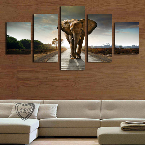 Elephant Painting Canvas Wall Art