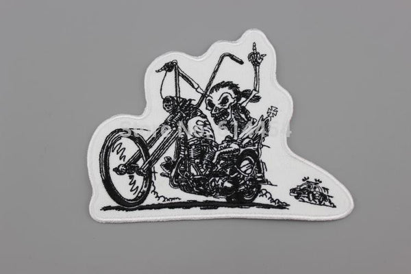 Live Free Ride Free, Embroidered Patch for Biker Jacket