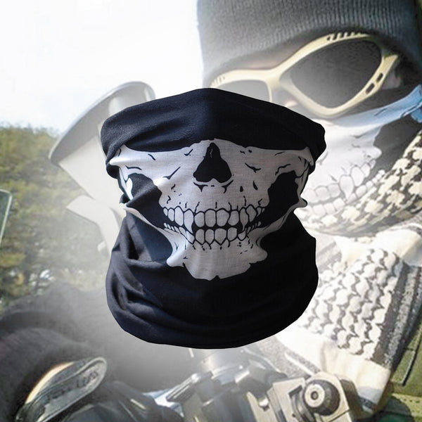 Bandana 'Skull/ Ghost' Effect Unisex for Outdoors + Motorcylists, Skiers, etc.  - Free Shipping