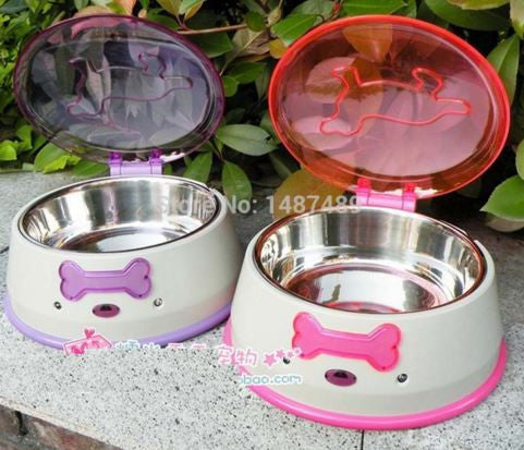 Pet Food Container Battery Operated for Automatic Opening, Stainless Steel - Free Shipping