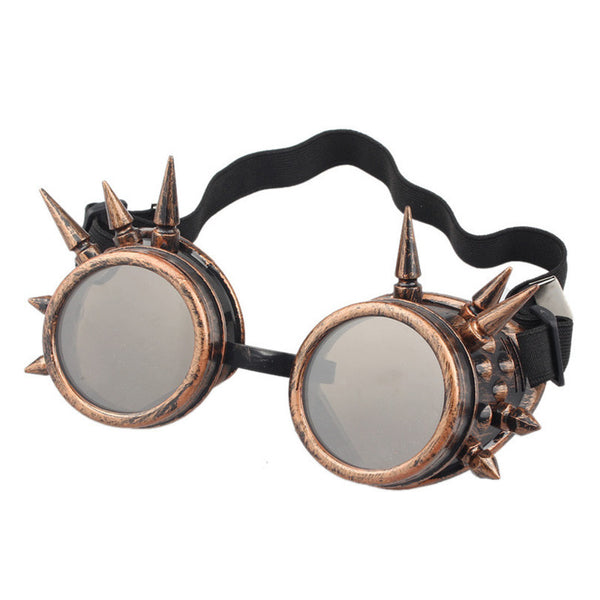 Gothic Vintage Victorian Style Steampunk Goggles with Spikes Cosplay