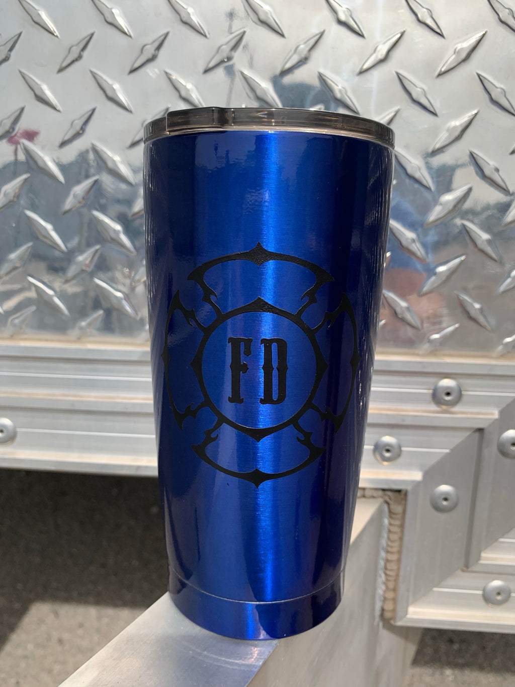 Blue 20oz. FD/Axe tumbler