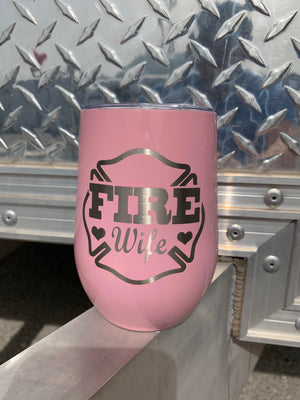 Fire Wife Wine Tumbler